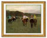 MFA Prints archival replica print of Edgar Degas, Racehorses at Longchamp from the Museum of Fine Arts, Boston collection.