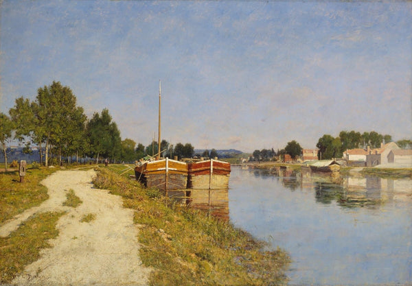 William Lamb Picknell, Morning on the Loing at Moret