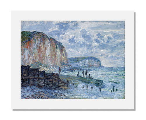 MFA Prints archival replica print of Claude Monet, Cliffs of the Petites Dalles from the Museum of Fine Arts, Boston collection.