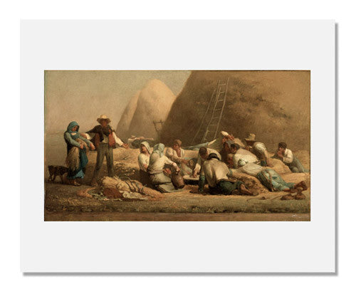 MFA Prints archival replica print of Jean François Millet, Harvesters Resting (Ruth and Boaz) from the Museum of Fine Arts, Boston collection.