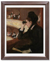 MFA Prints archival replica print of Mary Stevenson Cassatt, In the Loge from the Museum of Fine Arts, Boston collection.