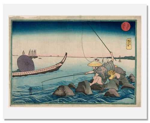 MFA Prints archival replica print of Utagawa Kuniyoshi, Teppozu from the Museum of Fine Arts, Boston collection.
