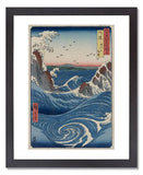 MFA Prints archival replica print of Utagawa Hiroshige I, Awa Province: Naruto Whirlpools, from the series Famous Places in the Sixty-odd Provinces [of Japan] from the Museum of Fine Arts, Boston collection.