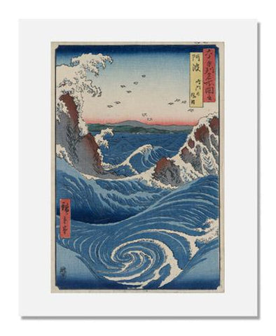 Utagawa Hiroshige I, Awa Province: Naruto Whirlpools, from the series Famous Places in the Sixty-odd Provinces [of Japan]