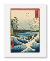 MFA Prints archival replica print of Utagawa Hiroshige I, The Sea off Satta in Suruga Province from the Museum of Fine Arts, Boston collection.