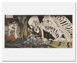 MFA Prints archival replica print of Utagawa Kuniyoshi, In the Ruined Palace at Soma from the Museum of Fine Arts, Boston collection.