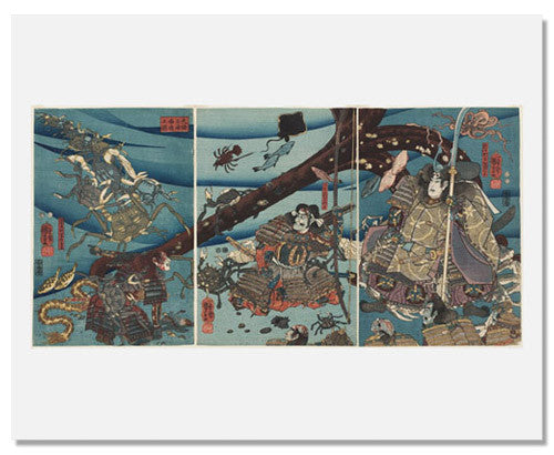 MFA Prints archival replica print of Utagawa Kuniyoshi, At the Bottom of the Sea in Daimotsu Bay from the Museum of Fine Arts, Boston collection.
