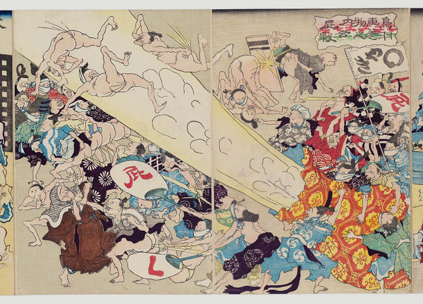 Artist Unknown, Japanese, Fart Battle, from a Toba Picture Scroll
