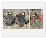 MFA Prints archival replica print of Utagawa Kuniyoshi, Plum Blossoms at Night (Yoru no ume) from the Museum of Fine Arts, Boston collection.
