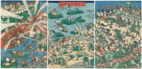 Kawanabe Kyōsai, Fashionable Battle of Frogs (Fūryū kaeru ōgassen no zu)