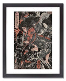 Utagawa Kuniteru I (Sadashige), Gozu Tennō (=Susanoo) and Inada-hime, from the series Lives of Heroes of Our Country