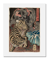 MFA Prints archival replica print of Utagawa Kuniyoshi, Dragon and Tiger (Ryuko) from the Museum of Fine Arts, Boston collection.