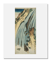 MFA Prints archival replica print of Katsushika Hokusai, Two Carp in Waterfall from the Museum of Fine Arts, Boston collection.