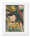 MFA Prints archival replica print of Utagawa Kuniyoshi, Sawarabi: In China, Wu Song the Ascetic from the Museum of Fine Arts, Boston collection.