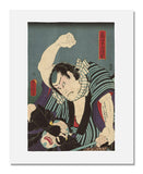 MFA Prints archival replica print of Utagawa Kunisada I (Toyokuni III), Actor Ichikawa Kodanji IV as Oniazami Seikichi from the Museum of Fine Arts, Boston collection.