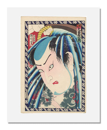 MFA Prints archival replica print of Toyohara Kunichika, Actor Otani Tomoemon V as Danshichi from the Museum of Fine Arts, Boston collection.