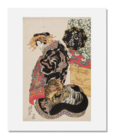 MFA Prints archival replica print of Keisai Eisen, Hanaogi of the Ogiya from the Museum of Fine Arts, Boston collection.