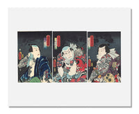 MFA Prints archival replica print of Utagawa Kunisada I, Actors from the series A Contemporary Suikoden from the Museum of Fine Arts, Boston collection.