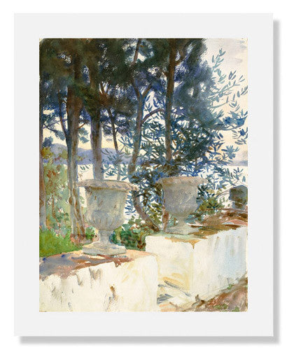 MFA Prints archival replica print of John Singer Sargent, Corfu: The Terrace from the Museum of Fine Arts, Boston collection.