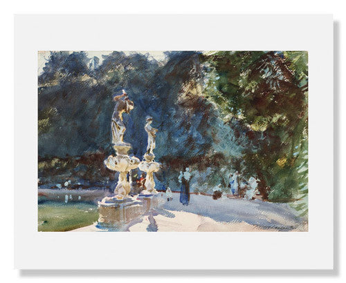 MFA Prints archival replica print of John Singer Sargent, Florence: Fountain, Boboli Gardens from the Museum of Fine Arts, Boston collection.