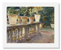 MFA Prints archival replica print of John Singer Sargent, Villa di Marlia, Lucca: The Balustrade from the Museum of Fine Arts, Boston collection.