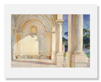 MFA Prints archival replica print of John Singer Sargent, Villa Falconiere from the Museum of Fine Arts, Boston collection.