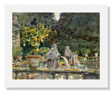 MFA Prints archival replica print of John Singer Sargent, Villa di Marlia, Lucca: A Fountain from the Museum of Fine Arts, Boston collection.