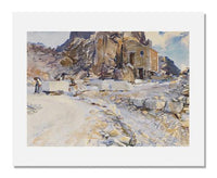 MFA Prints archival replica print of John Singer Sargent, Carrara: Little Quarry from the Museum of Fine Arts, Boston collection.