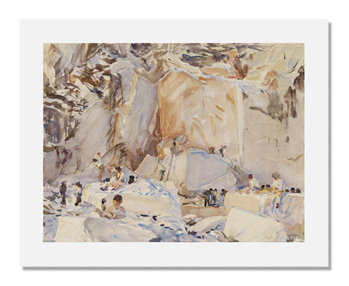 MFA Prints archival replica print of John Singer Sargent, Carrara: Monsieur Derville's Quarry from the Museum of Fine Arts, Boston collection.