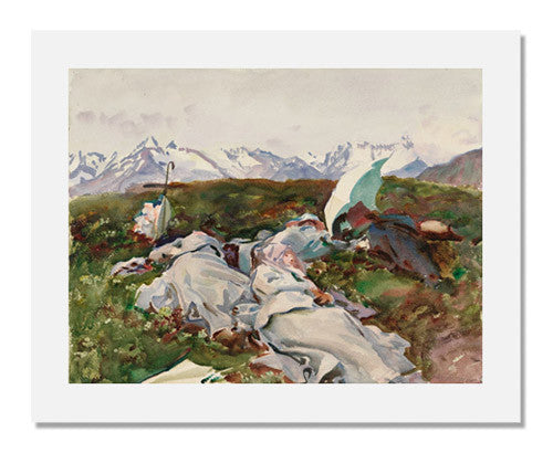 MFA Prints archival replica print of John Singer Sargent, Simplon Pass: At the Top from the Museum of Fine Arts, Boston collection.