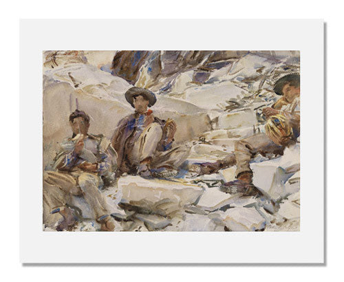 MFA Prints archival replica print of John Singer Sargent, Carrara: Workmen from the Museum of Fine Arts, Boston collection.