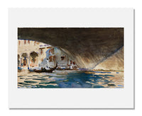 MFA Prints archival replica print of John Singer Sargent, Venice: Under the Rialto Bridge from the Museum of Fine Arts, Boston collection.