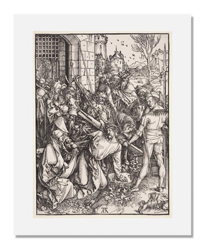 MFA Prints archival replica print of Albrecht Dürer, Bearing of the Cross (Large Passion) from the Museum of Fine Arts, Boston collection.