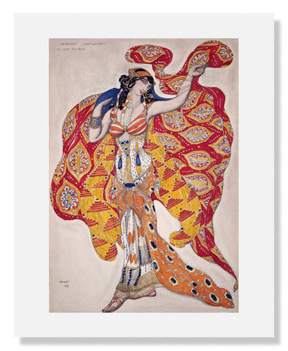 MFA Prints archival replica print of Léon Nikolaievitch Bakst, Madame Bartet as Bérénice from the Museum of Fine Arts, Boston collection.