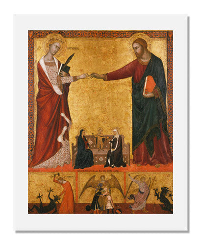 MFA Prints archival replica print of Barna da Siena, The Mystic Marriage of Saint Catherine from the Museum of Fine Arts, Boston collection.