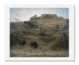 MFA Prints archival replica print of Jean-François Millet, Rabbit Warren, Dawn from the Museum of Fine Arts, Boston collection.