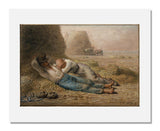 MFA Prints archival replica print of Jean François Millet, Noonday Rest from the Museum of Fine Arts, Boston collection.
