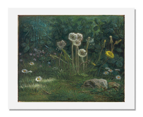 MFA Prints archival replica print of Jean François Millet, Dandelions from the Museum of Fine Arts, Boston collection.