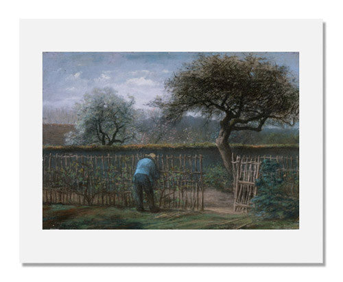 MFA Prints archival replica print of Jean François Millet, Training Grape Vines from the Museum of Fine Arts, Boston collection.