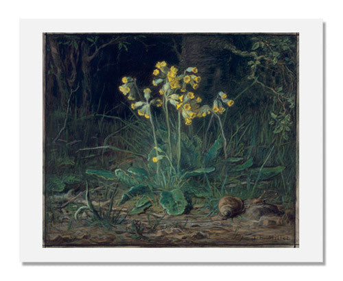 MFA Prints archival replica print of Jean François Millet, Primroses from the Museum of Fine Arts, Boston collection.