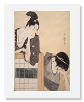 MFA Prints archival replica print of Kitagawa Utamaro I, Couple with a Standing Screen from the Museum of Fine Arts, Boston collection.