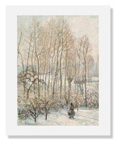 MFA Prints archival replica print of Camille Pissarro, Morning Sunlight on the Snow from the Museum of Fine Arts, Boston collection.