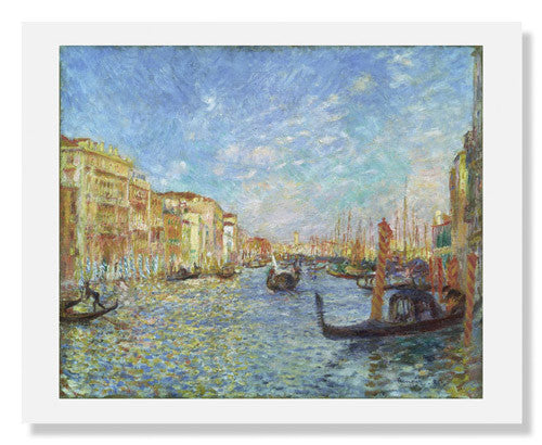 MFA Prints archival replica print of Pierre Auguste Renoir, Grand Canal, Venice from the Museum of Fine Arts, Boston collection.