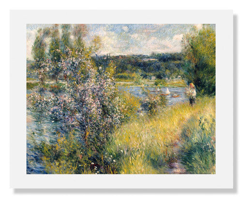 MFA Prints archival replica print of Pierre Auguste Renoir, The Seine at Chatou from the Museum of Fine Arts, Boston collection.