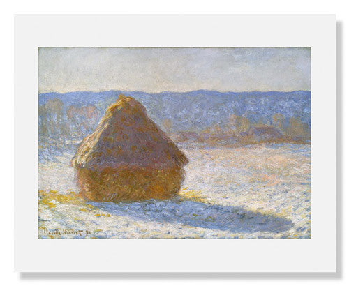Claude Monet, Grainstack (Snow Effect)