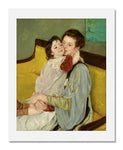 MFA Prints archival replica print of Mary Stevenson Cassatt, Caresse Maternelle from the Museum of Fine Arts, Boston collection.
