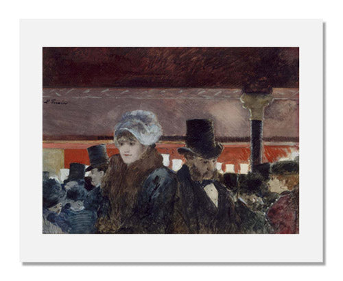 MFA Prints archival replica print of Jean Louis Forain, Foyer of the Opéra from the Museum of Fine Arts, Boston collection.