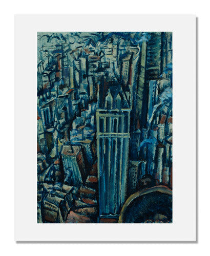 MFA Prints archival replica print of Max Weber, New York (The Liberty Tower from the Singer Building) from the Museum of Fine Arts, Boston collection.