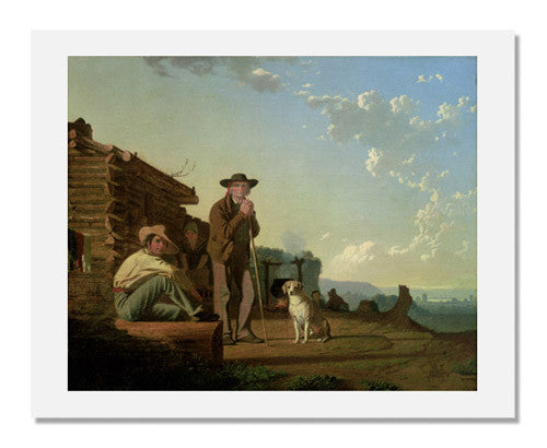 MFA Prints archival replica print of George Caleb Bingham, The Squatters from the Museum of Fine Arts, Boston collection.