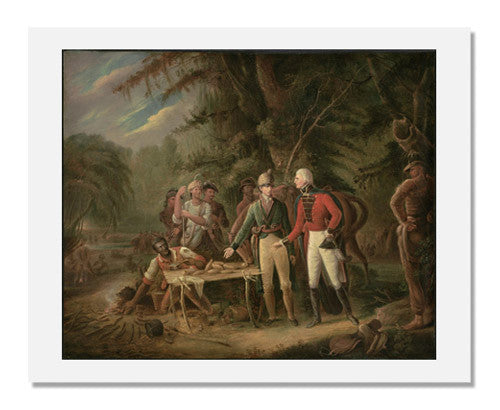 MFA Prints archival replica print of John Blake White, General Francis Marion Inviting A British Officer to Share His Meal from the Museum of Fine Arts, Boston collection.